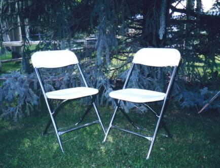Where to find CHAIRS, WHITE FOLDING in Elk River
