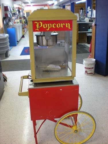 Where to find POPCORN MACHINE W CART in Elk River