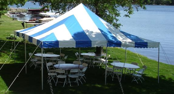 Where to find CANOPY, 20X20 BLUE   WHITE in Elk River