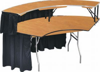 Where to find 80  SERPENTINE BAR   TABLE W SKIRT in Elk River
