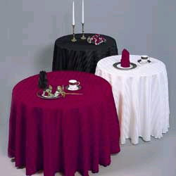 Where to find LINEN,TABLE CLOTH 90 RD BLACK. in Elk River