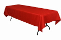 Rental store for LINEN,TABLE CLOTH 60X120 RED in Elk River MN