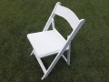 Where to rent CHAIRS, WHITE WOOD PADDED in Elk River MN