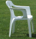 Where to rent CHAIRS, WHITE OUTDOOR W ARMS in Elk River MN