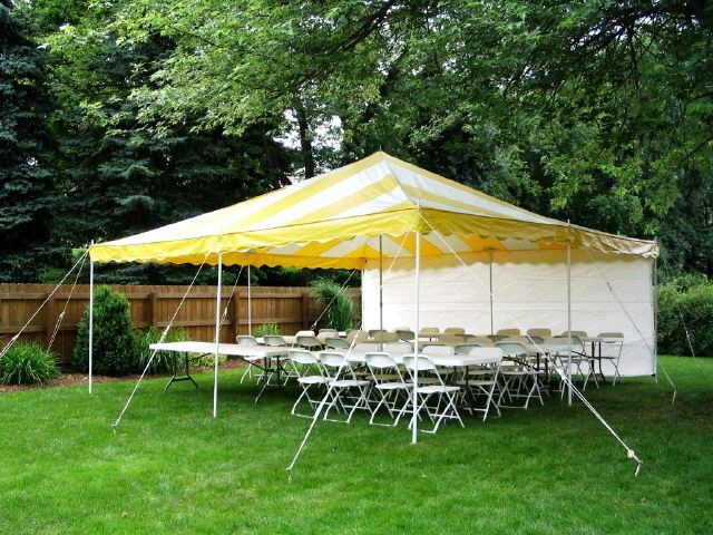 Canopy 16x16 Yellow White Rentals Elk River Mn Where To